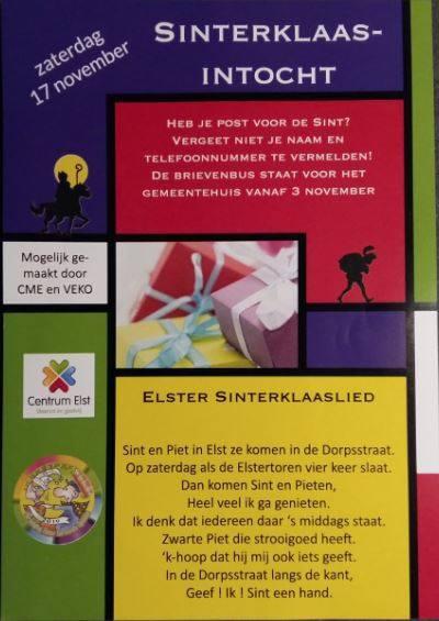 Post áán de Sint en Sinterklaaslied